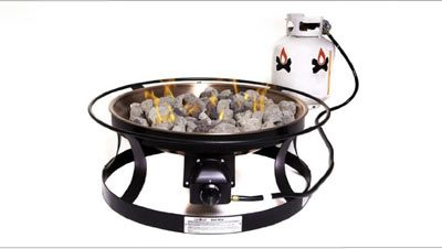 The Camco Little Red Propane Camp Fire Red Hot Smokeless