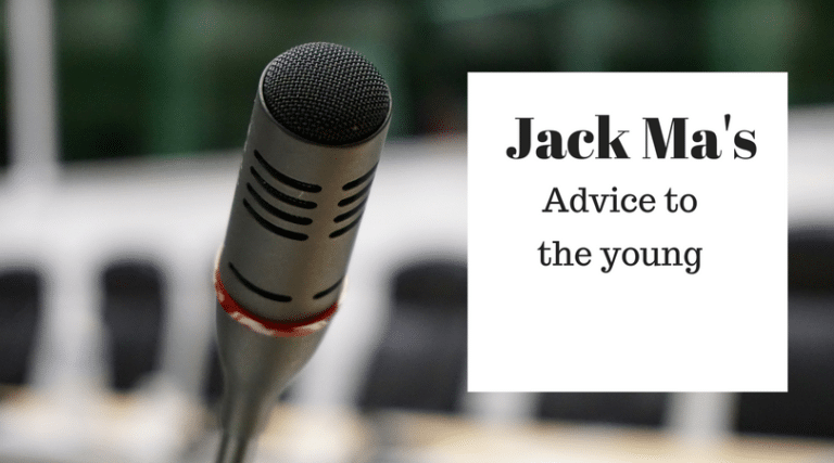 Jack Ma's Advice To The Young
