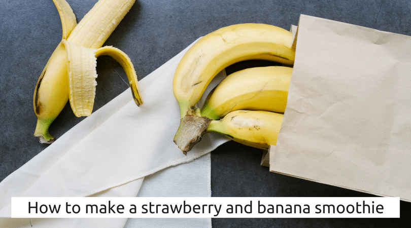 How to make a strawberry and banana smoothie