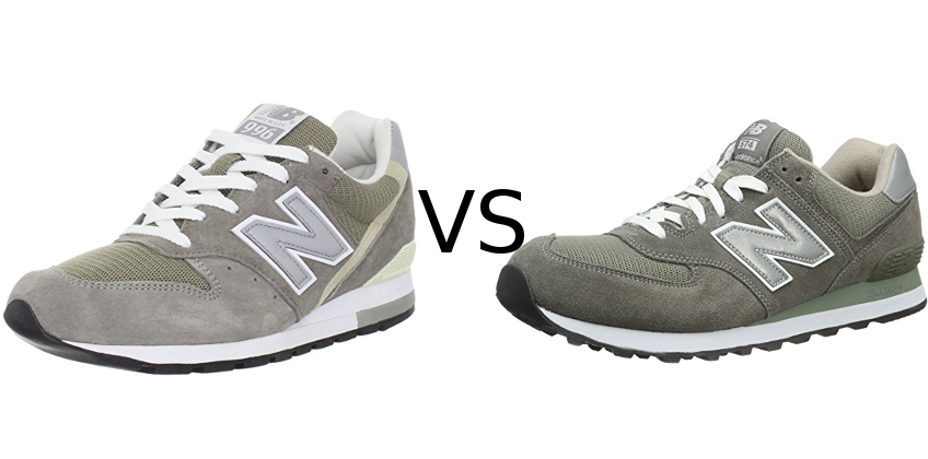 best website a9a6c 9f1c3 New Balance 996 vs 574