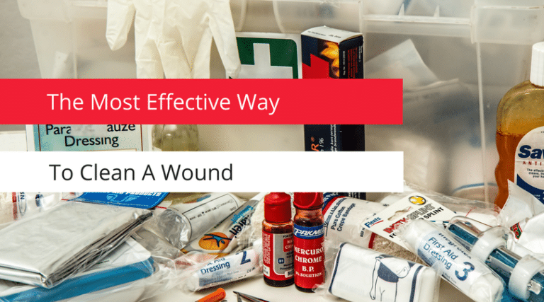 The most effective way to clean a wound