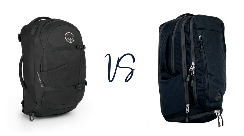 Osprey Farpoint 40 vs North Face Overhaul 40